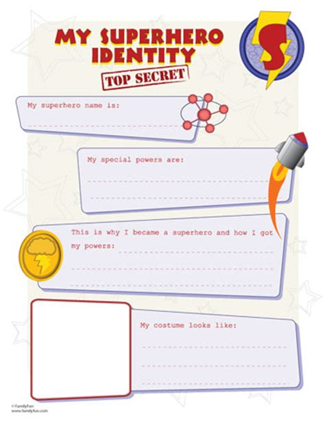 powers card template sh identity printout for your own great