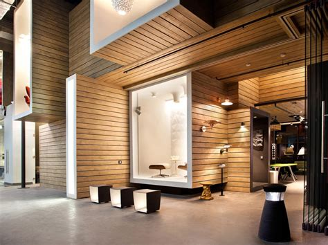 retail design showroom in wood dk office showroom by megabudka moscow 187 retail design blog