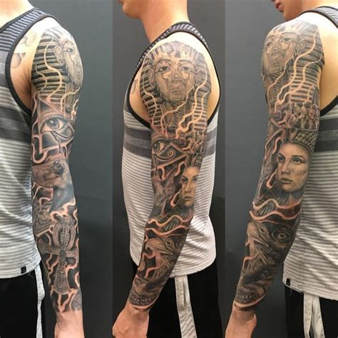 egyptian sleeve tattoo tattoos designs with meanings flowertattooideas