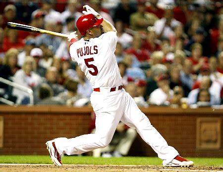 baseball swing finish albert pujols crabcake sports