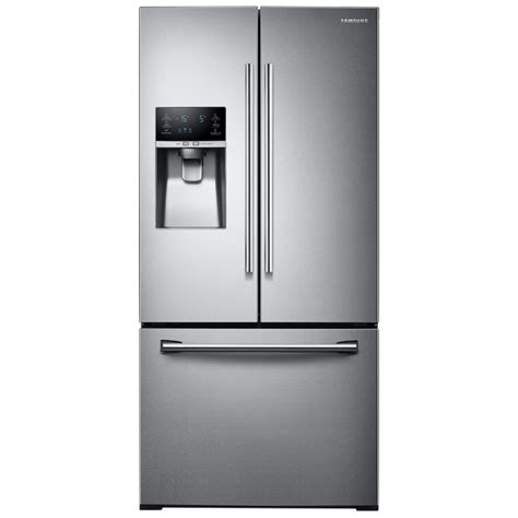 samsung 25 5 cu ft door refrigerator stainless steel shop samsung 25 5 cu ft door refrigerator with
