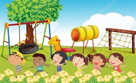 imagenes de niños jugando en un columpio muchos ni 241 os jugando en el parque archivo im 225 genes
