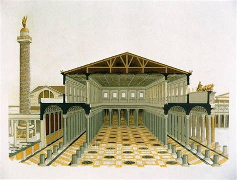 italy rome basilica ulpia groundplan roman basilica my first real formal building minecraft