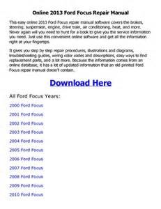 2013 ford focus repair manual online pdf pdfsr com