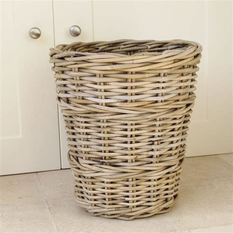 waste paper basket wicker wastepaper bin basket bliss and bloom ltd