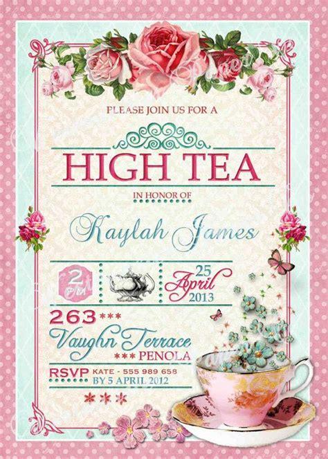 printable high tea bridal shower invitations high tea invitation tea party bridal shower brunch lunch