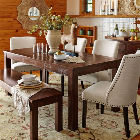parsons dining table pier 1 parsons 76 quot tobacco brown dining table dining rooms