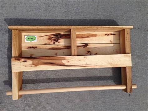 Kitchen Cabinet Towel Rack diy pallet shelf and towel rack pallet furniture diy