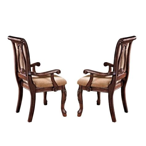 Silver Dining Chair Steve Silver Company Harmony Harpbackarm Dining Chair In Rich Cherry Hy600a