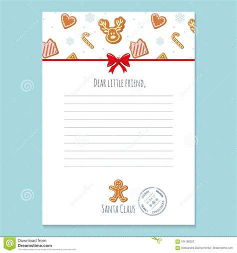 christmas letter santa claus template layout