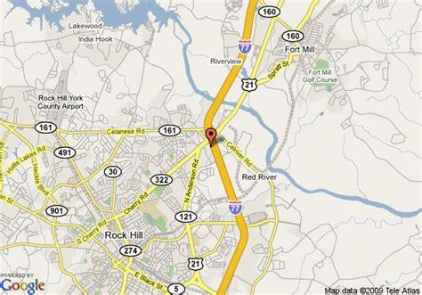 rock hill carolina map map of 8 motel rock hill rock hill