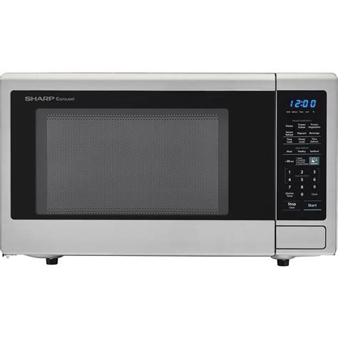 Sharp Microwave Ovens Countertop by Sharp Carousel 1 8 Cu Ft 1100w Countertop Microwave Oven