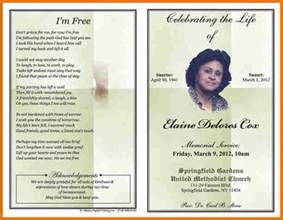 free template for obituary program free obituary template cyberuse