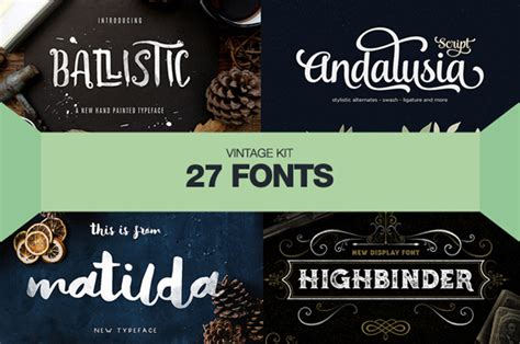 Graphic Design Font Resources | 27 vintage fonts for designers resources graphic