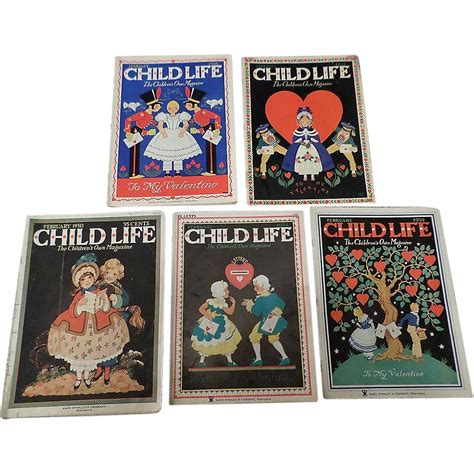 Magazine Set 1930 s child february magazine set of five from cheriescollectibletreasures on