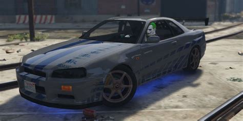 nissan r34 paul walker gta 5 nissan skyline r34 paul walker 2fast 2furious mod