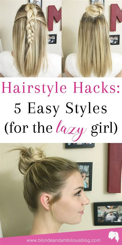 hairstyles for school lazy hairstyle hacks 5 easy styles lazy hairstyles lazy