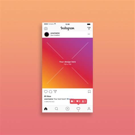 instagram design mockup instagram post mockup psd file premium download