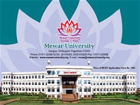 Msw Mba Dual Degree Programs In India by Mewar Conducts Muee 2013 On 04 May Careerindia