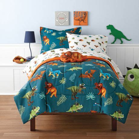 walmart kids bedding mainstays kids dino twin bed set walmart canada