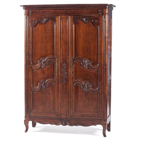 carved armoire french provincial carved armoire cowan s auction house
