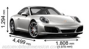 Length Of A Porsche 911 Dimensions Of Porsche Cars Showing Length Width And Height