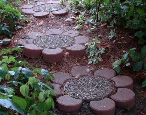 diy flower pathway stepping stones these blocks center