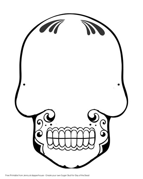 skull template printable clipart best