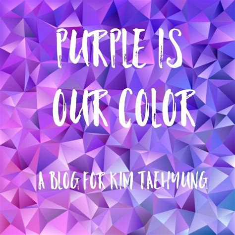kim taehyung i purple you purple is our color army s amino