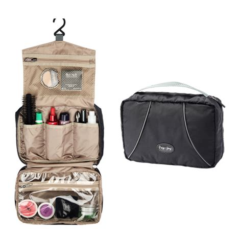 Toiletry Bag With Mirror Foldable Canvas Hanging Cosmetic Bag With Mirror Cb5278