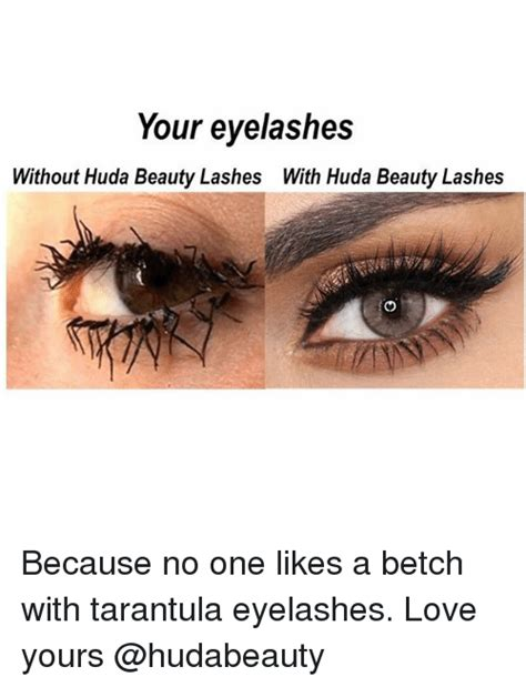 Because No One Likes Looking At by Your Eyelashes Without Huda Lashes With Huda