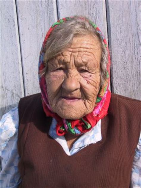 Old russian women with young