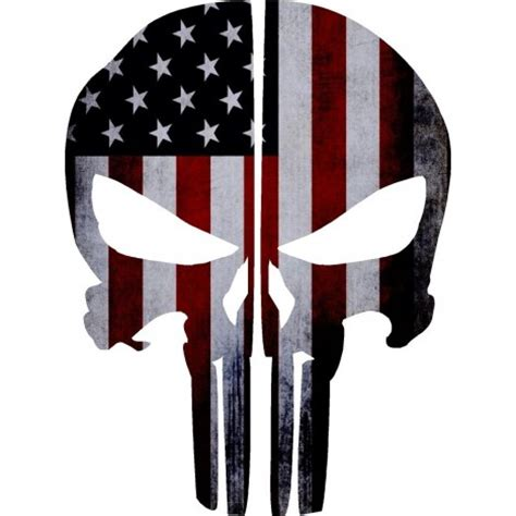 Punisher Skull American Flag Decal American Flag Punisher Skull Reflective Rear Helmet Decal Ems Viny Graphics Stickers