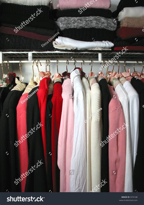 Closet Of Clothes But Nothing To Wear closet clothes nothing wear stock photo 874148