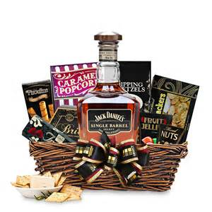 whiskey gift basket buy daniel s single barrel select whiskey gift basket