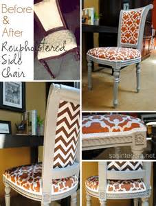 diy reupholstered side chair burger