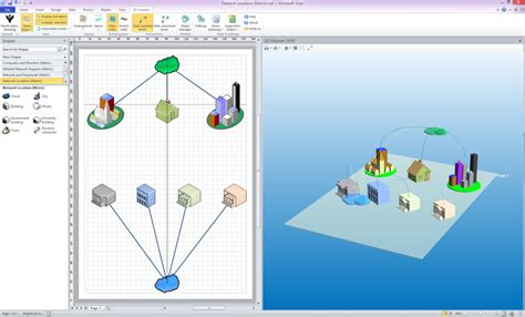 3d shapes in visio 3d visioner 2013