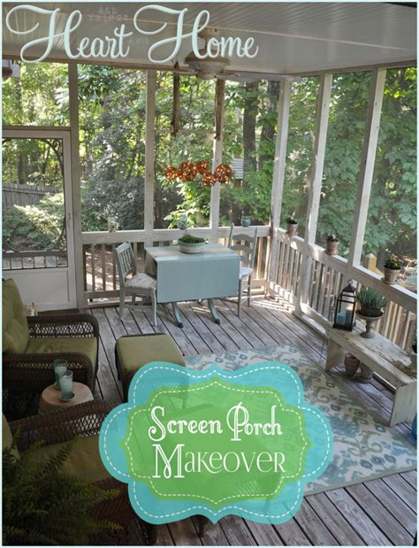 screened porch makeover screen porch makeover all things heart and home