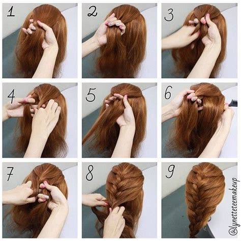 easy braided hairstyles for long hair step by step hairstyles for long hair braids steps google search