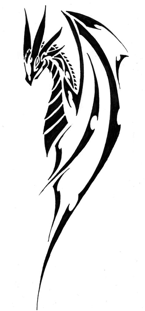 easy dragon tattoo designs simple tribal clipart best