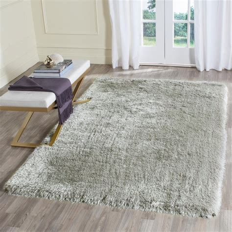 Memory Foam Area Rug Safavieh Memory Foam Plush Shag Silver 3 Ft X 5 Ft Area Rug Sgp256b 3 The Home Depot
