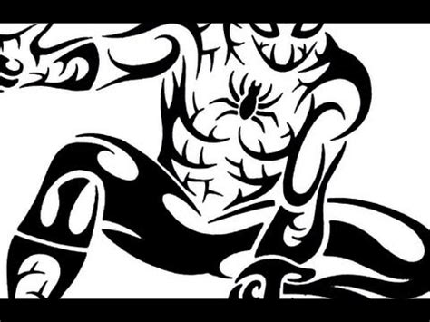 spiderman tribal tattoo how to draw tribal design style