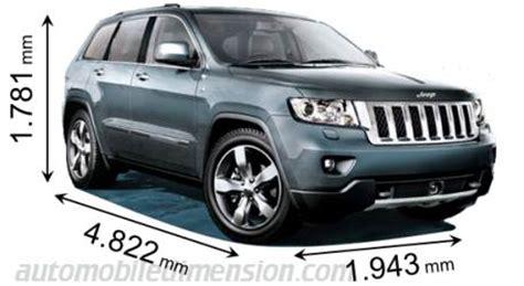 What Is The Length Of A Jeep Grand Dimensions Des Voitures Jeep Longueur X Largeur X Hauteur