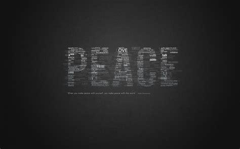peace word composed typography desktop wallpaper