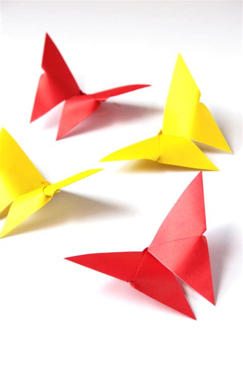 Easy Butterfly Origami - make it monday easy origami butterflies gathering