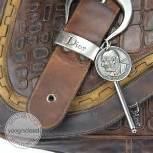 New Gaucho Croc Embroidered by Christian Limited Edition Brown Croc Embroidered