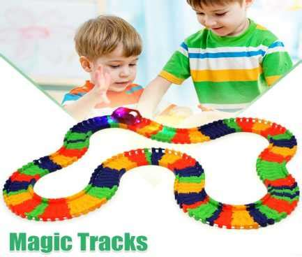 Lynx Magic Tracks Track Mobil Glows In The 165 Pcs Mainan Anak 1 magic tracks glow in the race car ebay couponndeal co uk