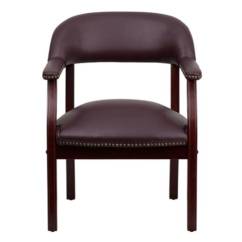 biz chair burgundy top grain leather conference chair b z105 lf19