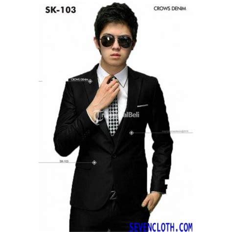 Jaket Jas Jas Pria Putih jas pria warna hitam list putih sc k103 termurah