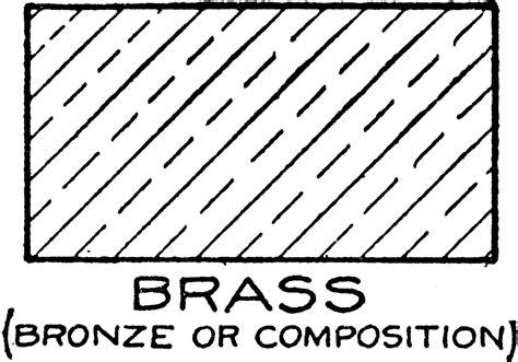 Mechanical Drawing Cross Hatching Of Brass Clipart Etc